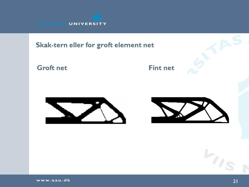 Skak-tern eller for groft element net