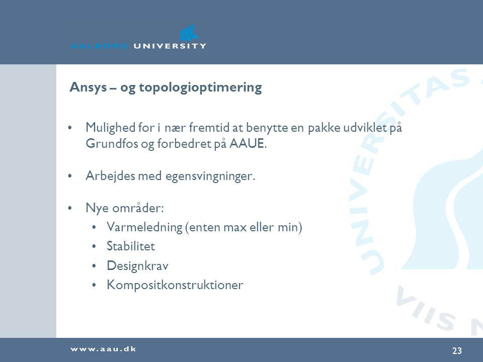 Ansys – og topologioptimering