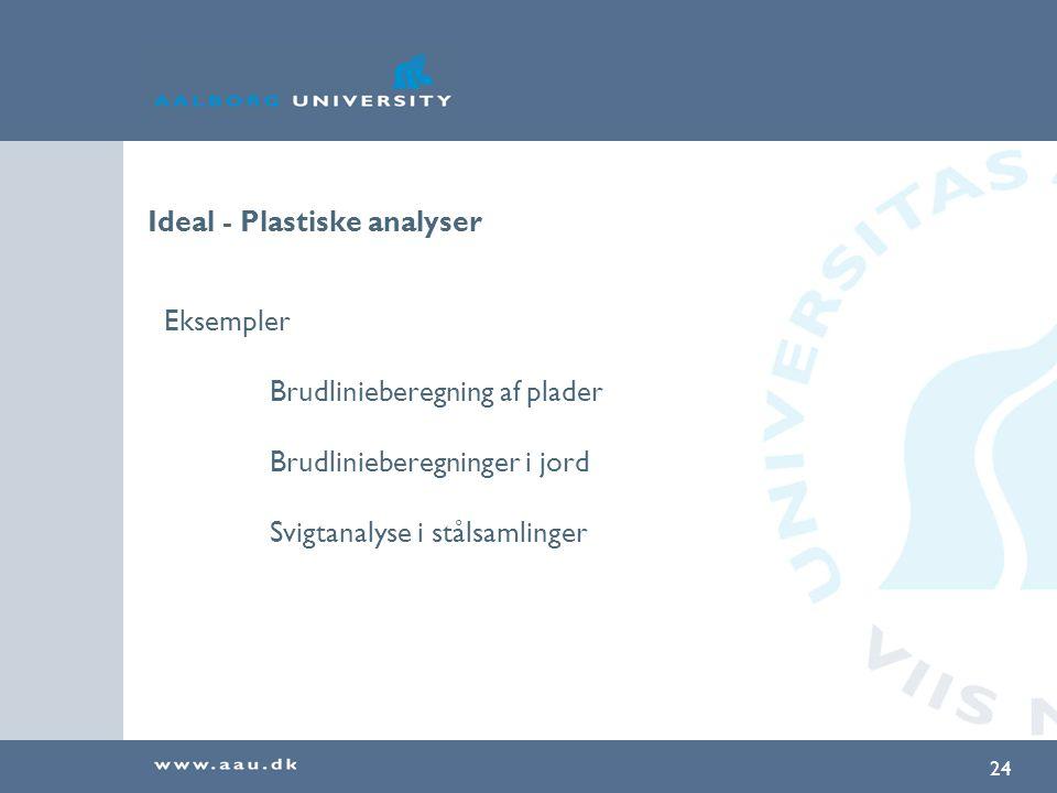 Ideal - Plastiske analyser