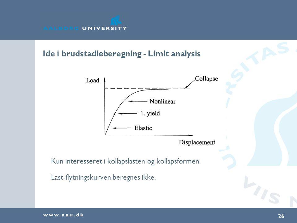 Ide i brudstadieberegning - Limit analysis