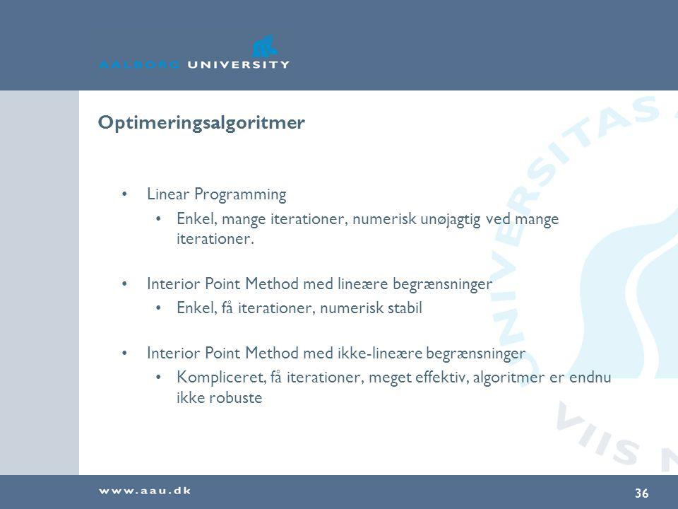 Optimeringsalgoritmer