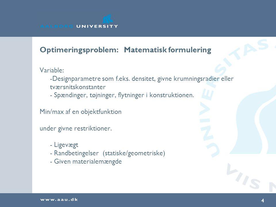 Optimeringsproblem: Matematisk formulering