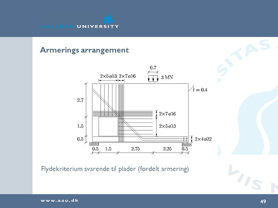Armerings arrangement