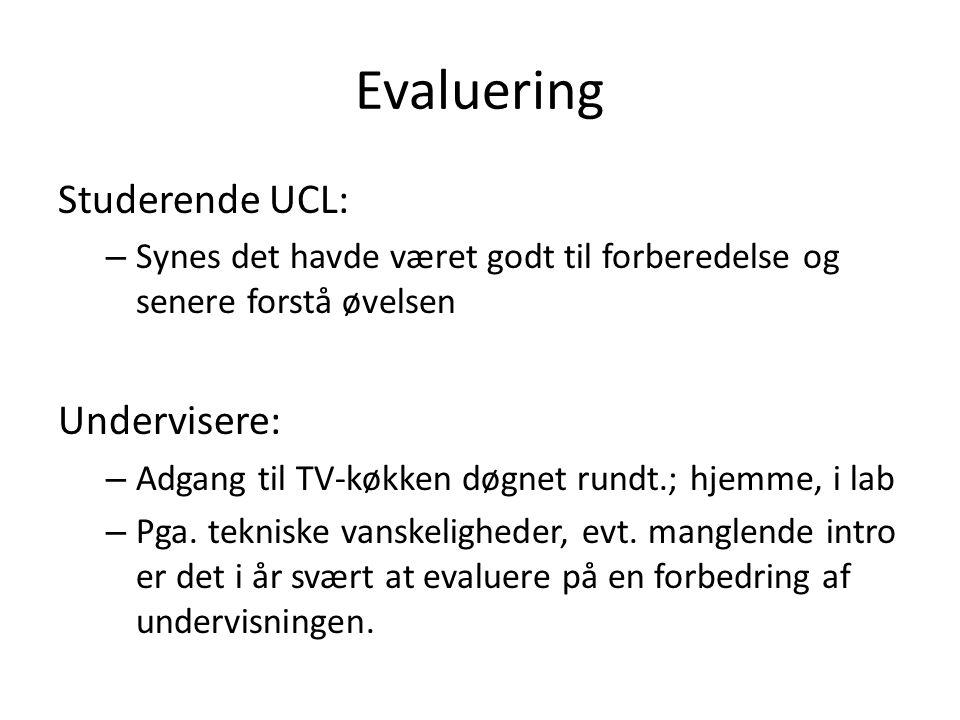 Evaluering Studerende UCL: Undervisere: