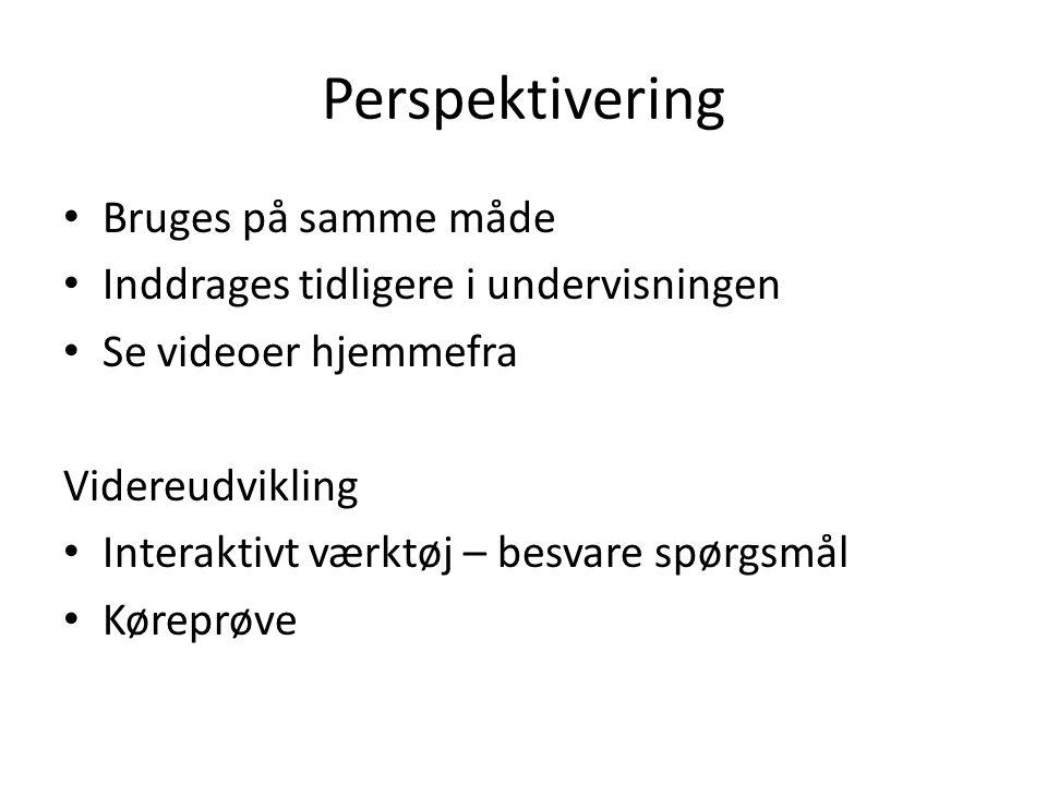Perspektivering Bruges på samme måde