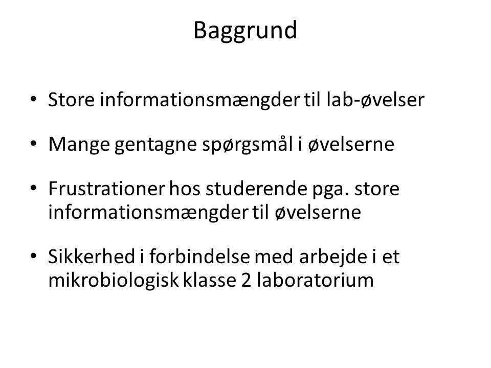 Baggrund Store informationsmængder til lab-øvelser