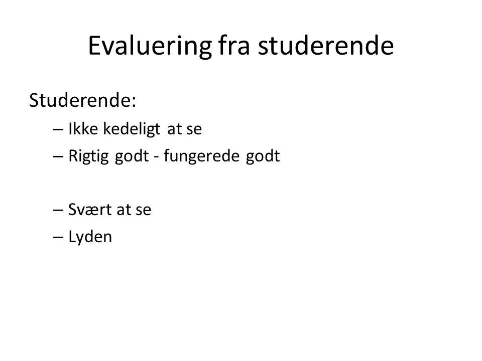 Evaluering fra studerende