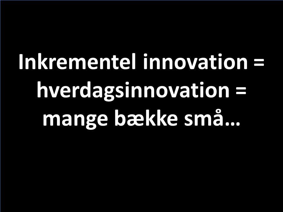 Inkrementel innovation = hverdagsinnovation = mange bække små…