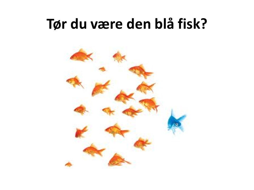 Tør du være den blå fisk Der lige når lidt længere end de andre fisk