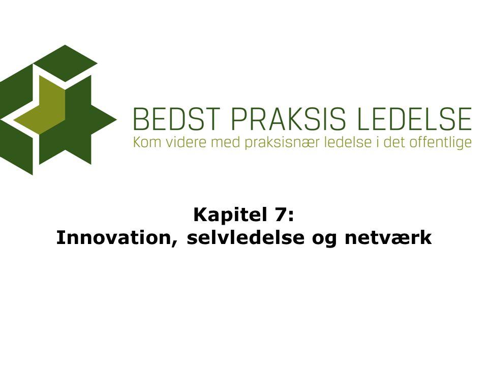 Kapitel 7: Innovation, selvledelse og netværk
