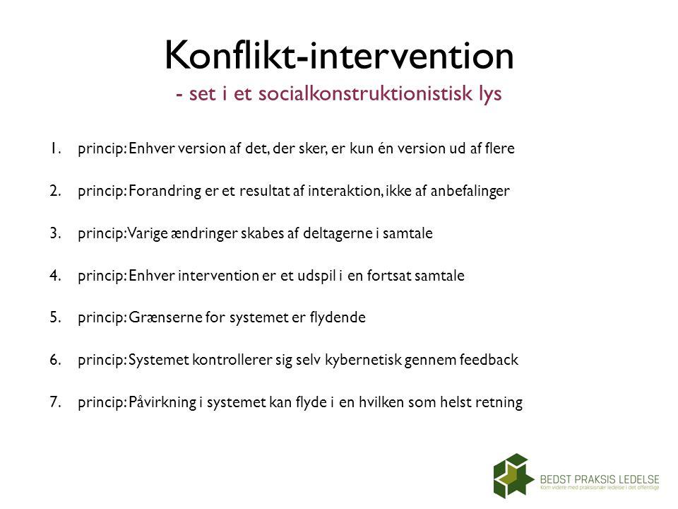 Konflikt-intervention - set i et socialkonstruktionistisk lys