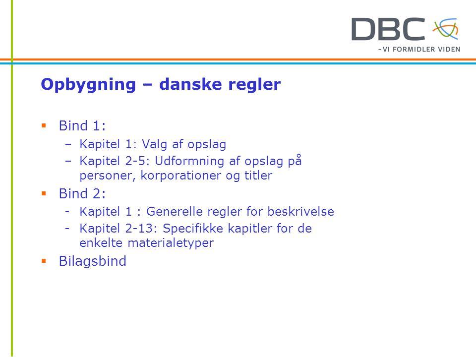 Opbygning – danske regler