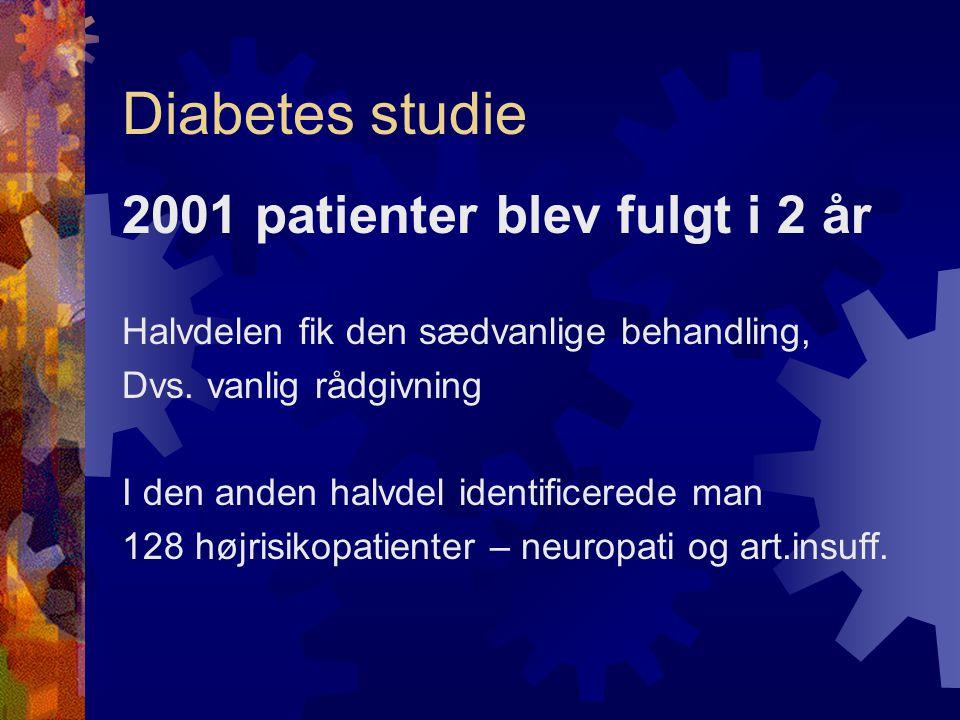 Diabetes studie 2001 patienter blev fulgt i 2 år