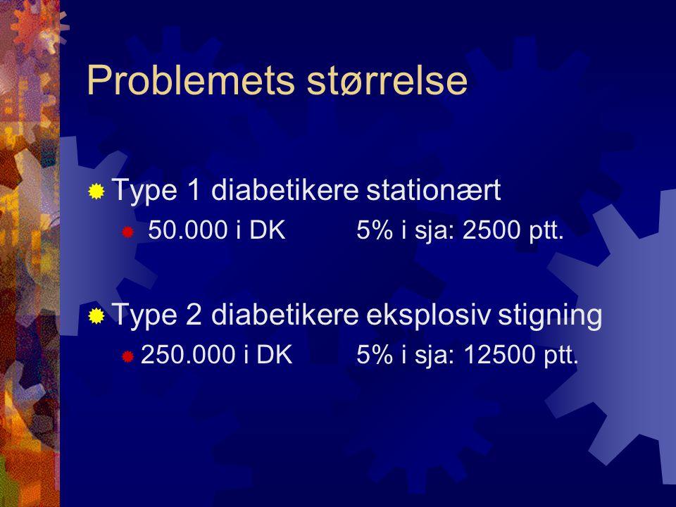 Problemets størrelse Type 1 diabetikere stationært