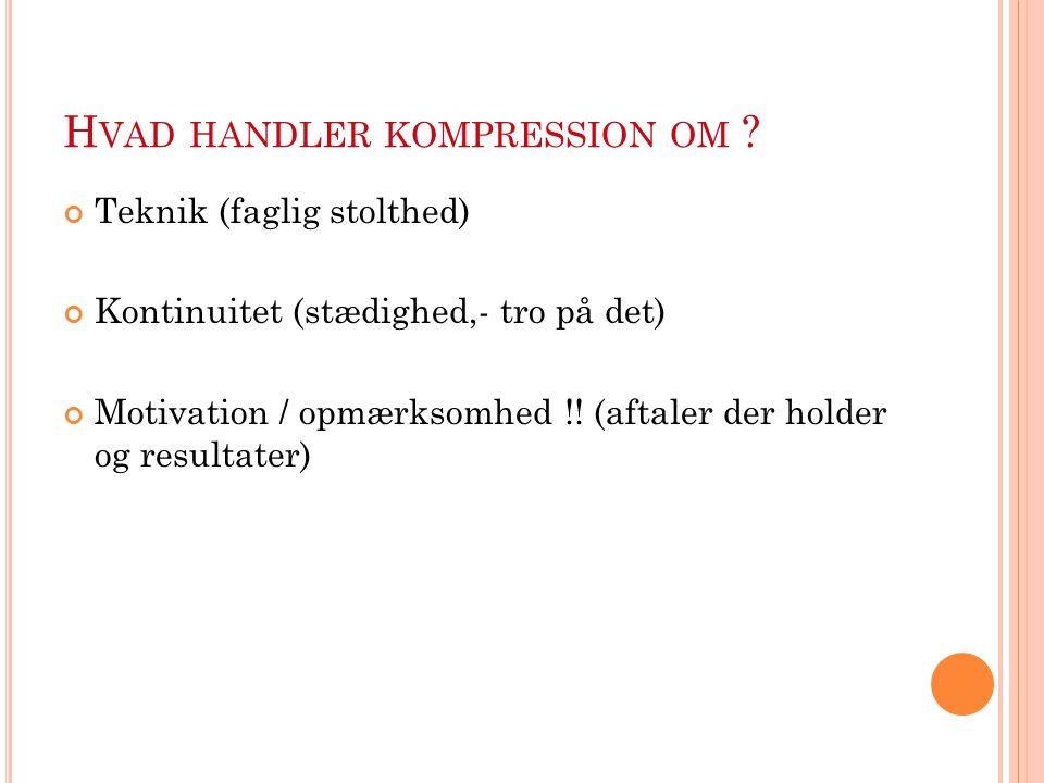 Hvad handler kompression om