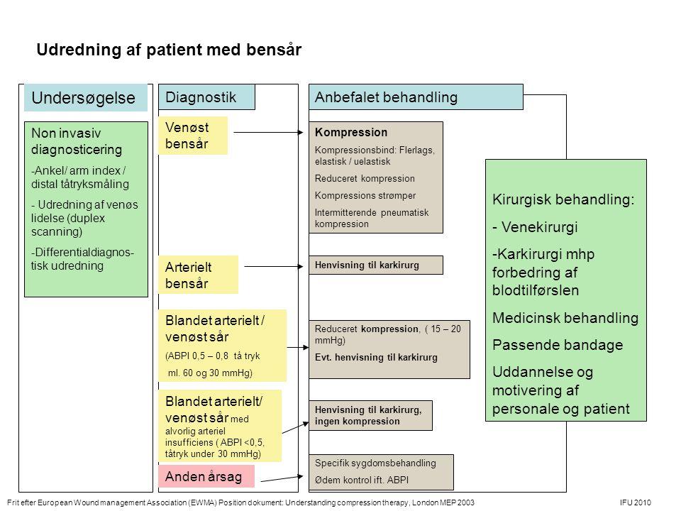 Udredning af patient med bensår