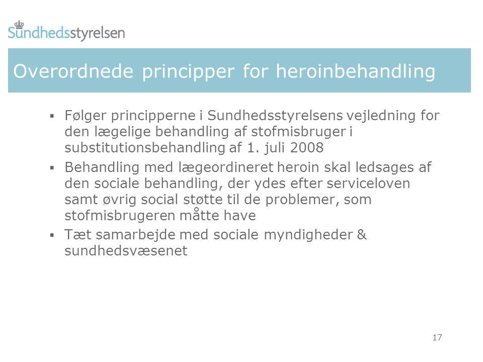 Overordnede principper for heroinbehandling