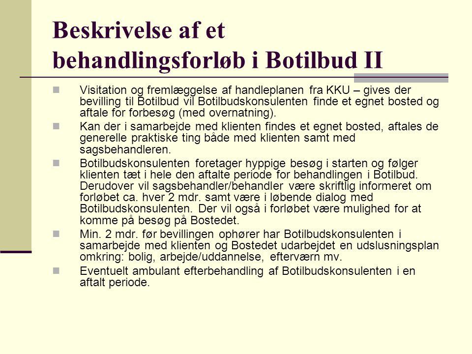 Beskrivelse af et behandlingsforløb i Botilbud II