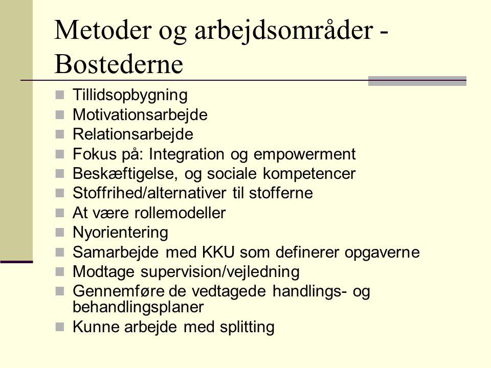 Metoder og arbejdsområder - Bostederne
