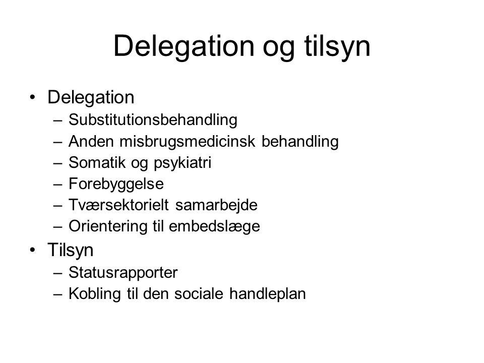 Delegation og tilsyn Delegation Tilsyn Substitutionsbehandling