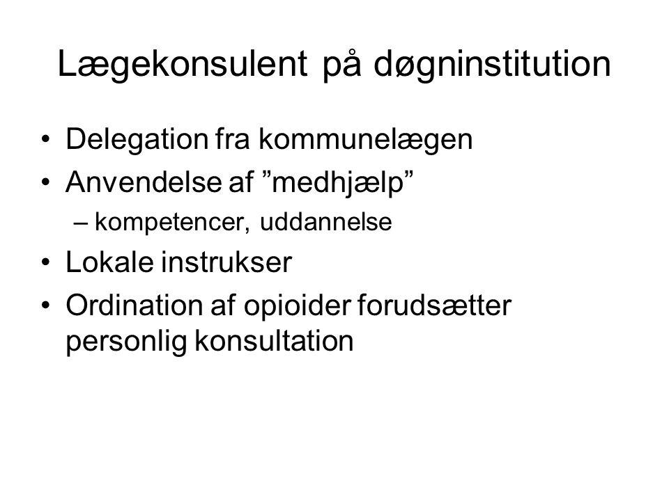 Lægekonsulent på døgninstitution