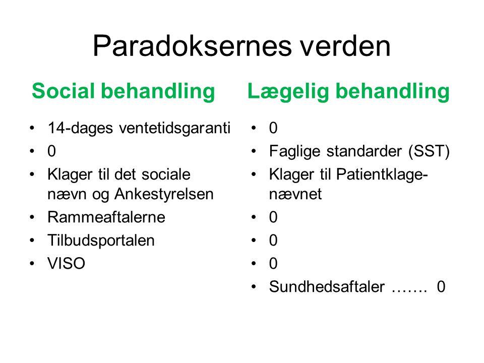 Paradoksernes verden Social behandling Lægelig behandling