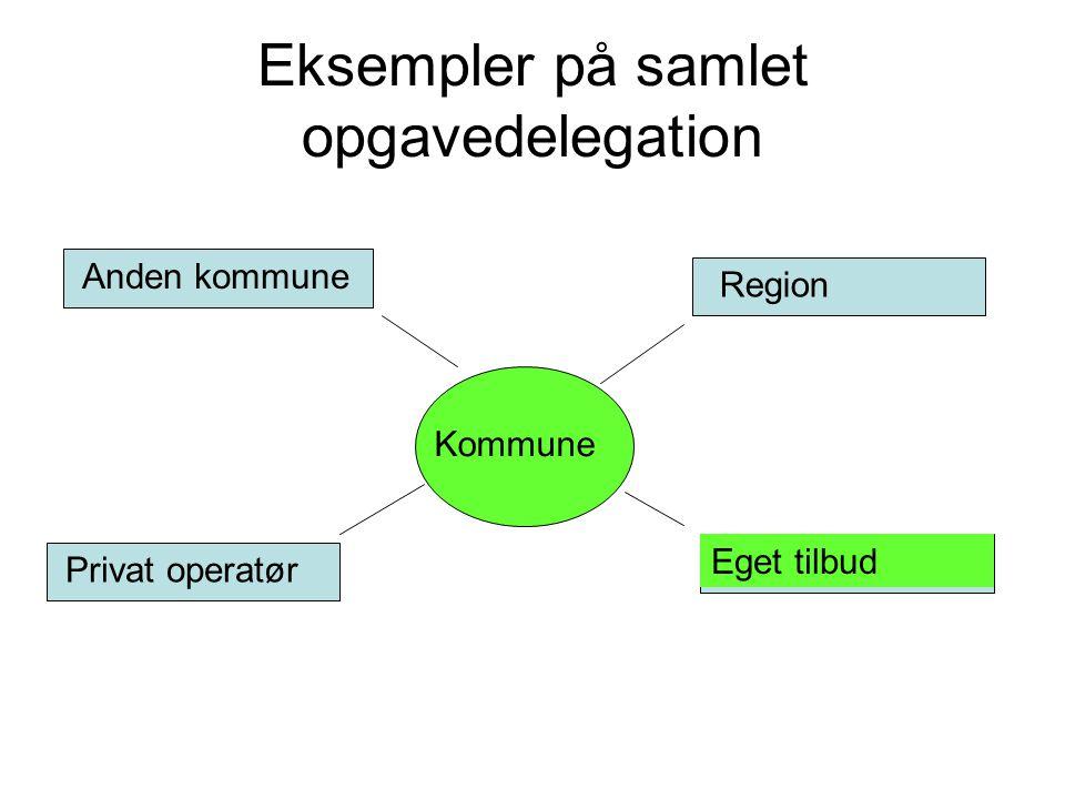 Eksempler på samlet opgavedelegation