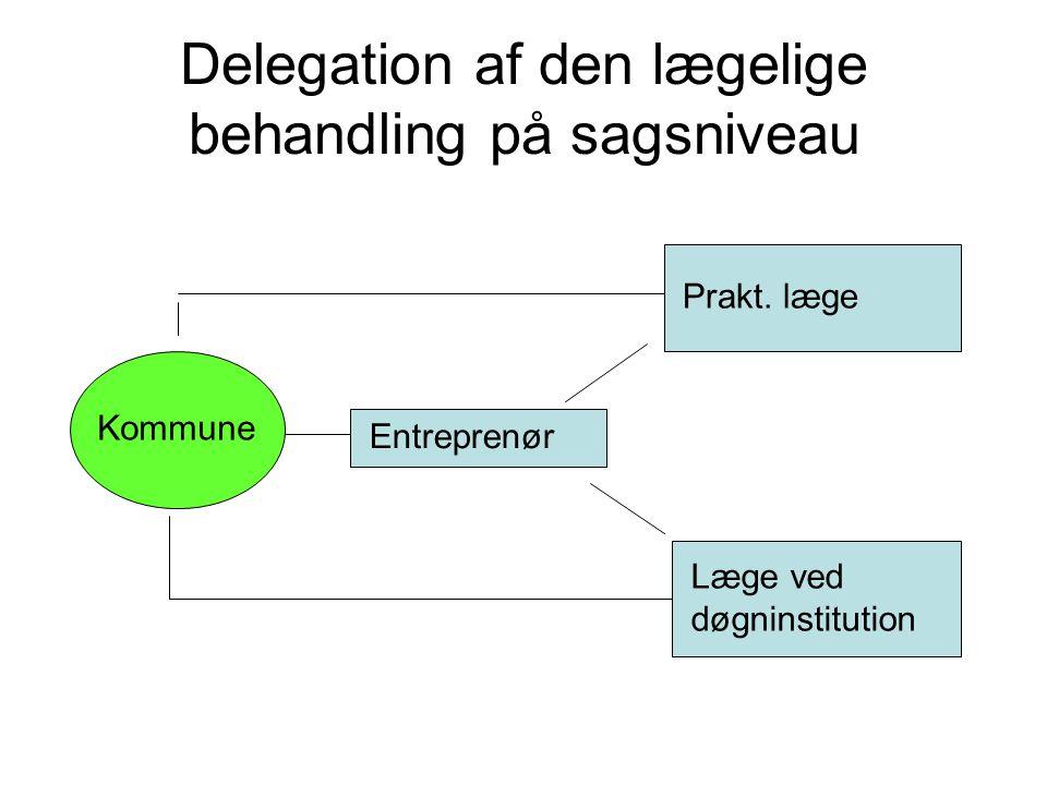 Delegation af den lægelige behandling på sagsniveau