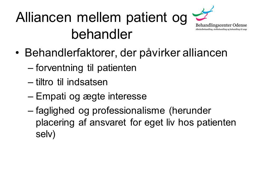 Alliancen mellem patient og behandler