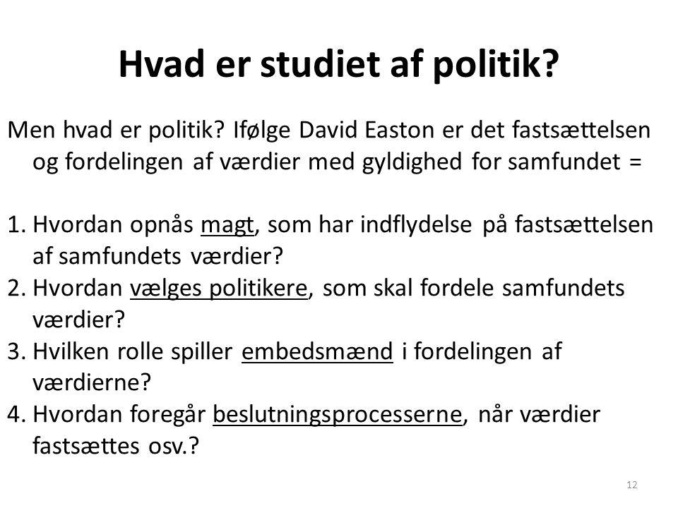 Hvad er studiet af politik