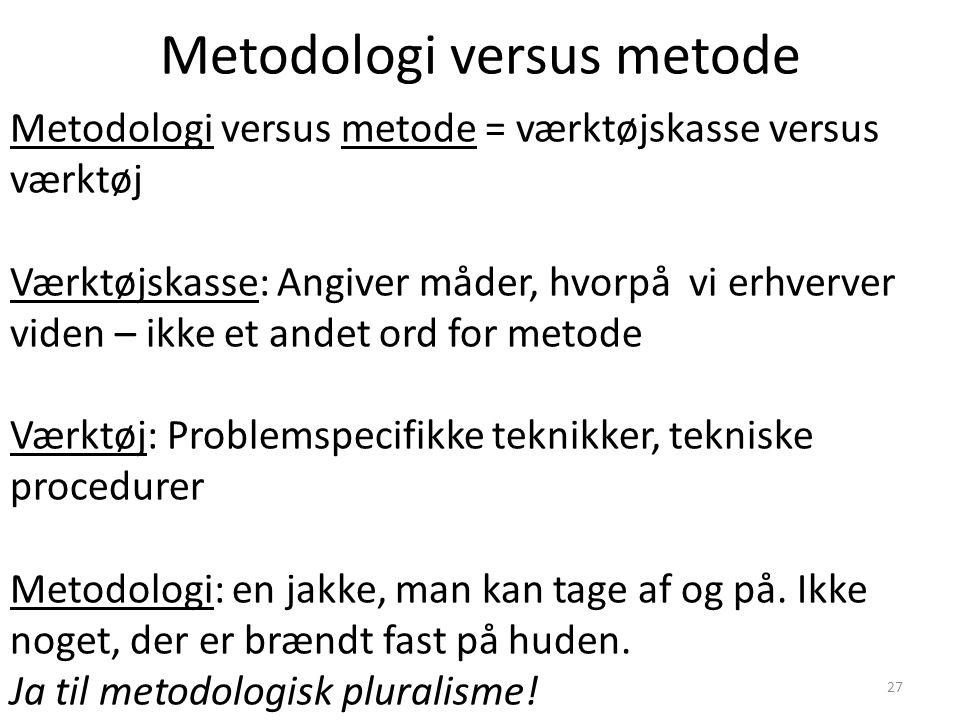 Metodologi versus metode