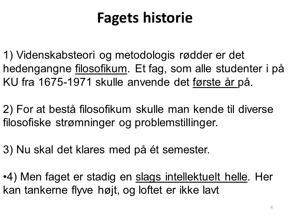 Fagets historie
