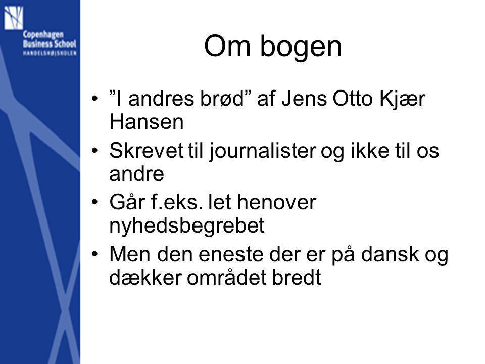 Om bogen I andres brød af Jens Otto Kjær Hansen