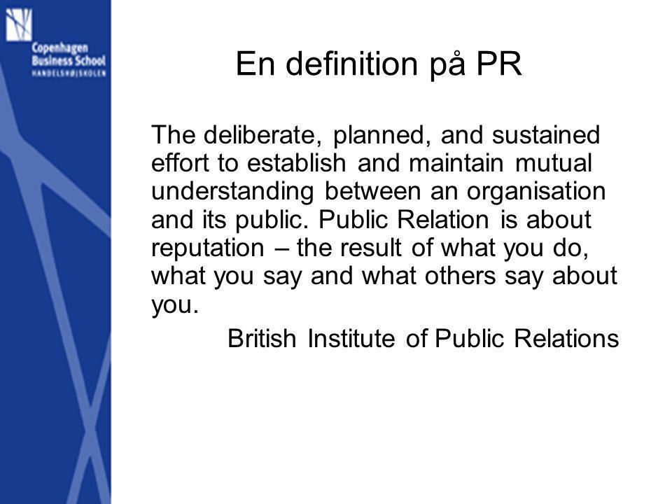 En definition på PR
