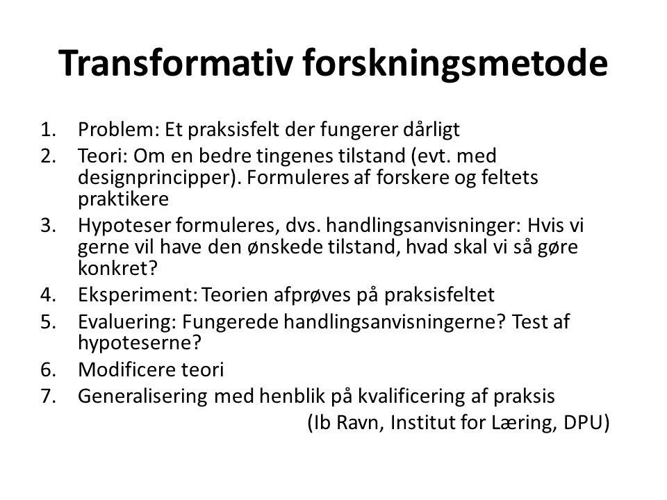 Transformativ forskningsmetode
