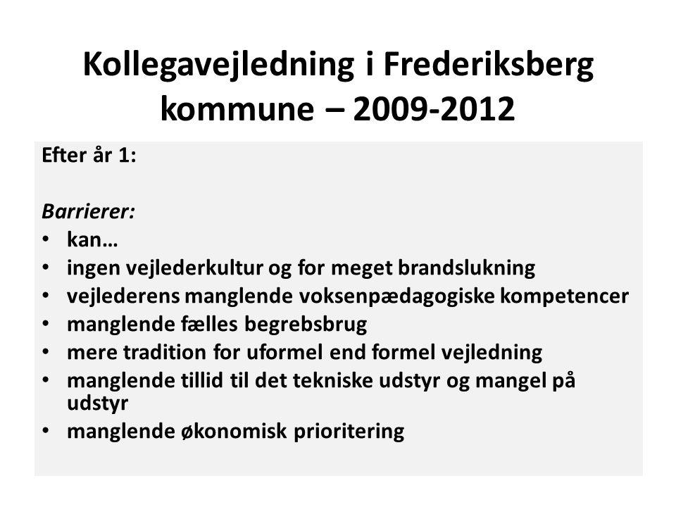 Kollegavejledning i Frederiksberg kommune – 2009-2012