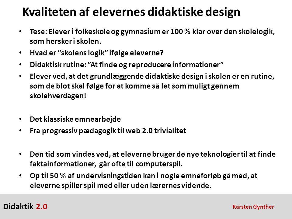 Kvaliteten af elevernes didaktiske design