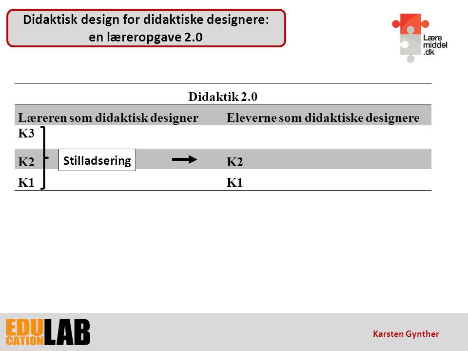 Didaktisk design for didaktiske designere: