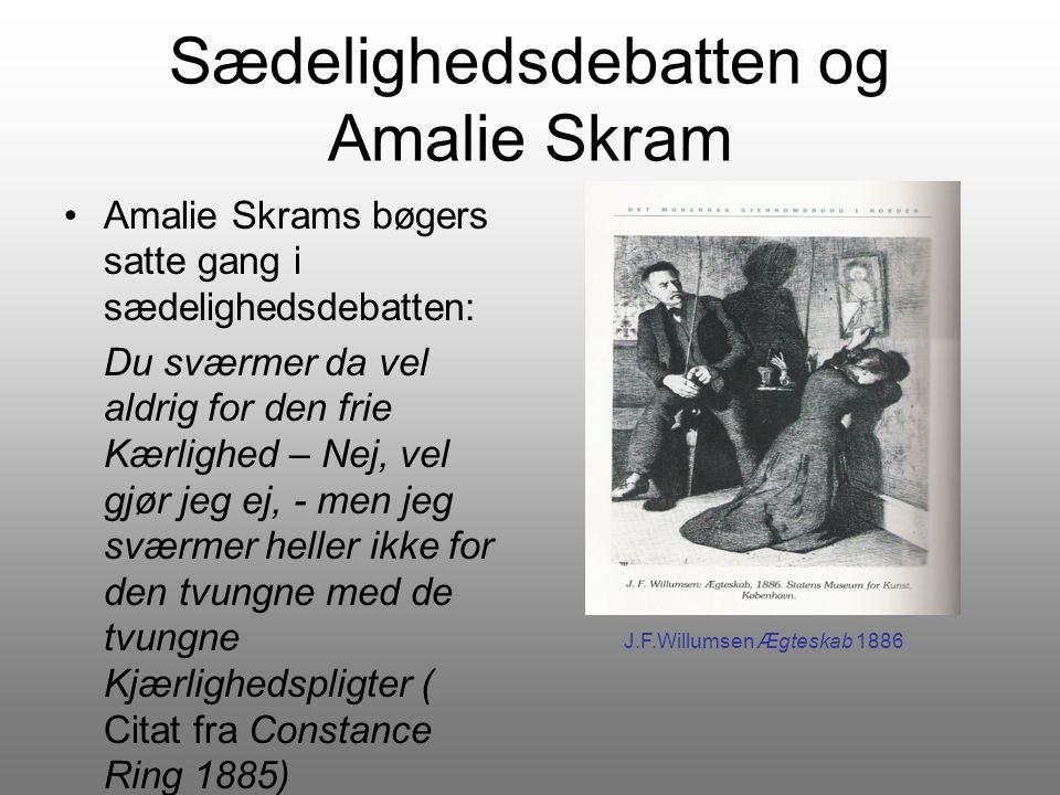 Sædelighedsdebatten og Amalie Skram