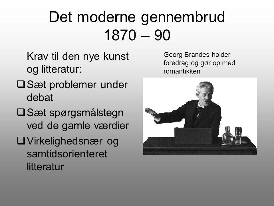 Det moderne gennembrud 1870 – 90