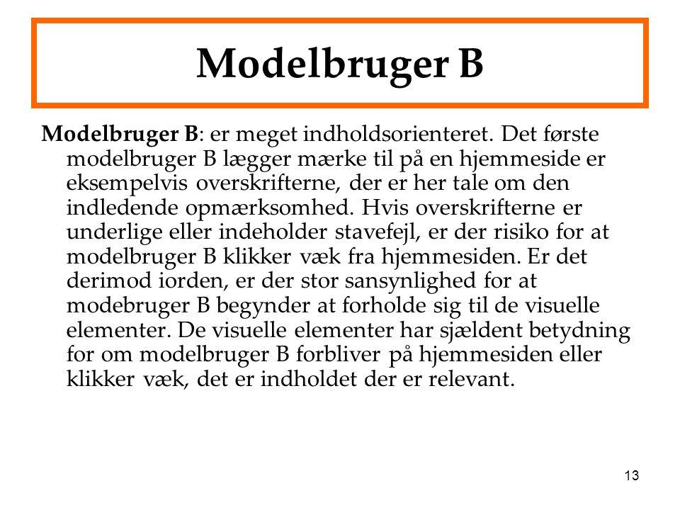 Modelbruger B