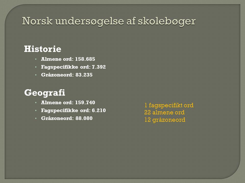 Norsk undersøgelse af skolebøger