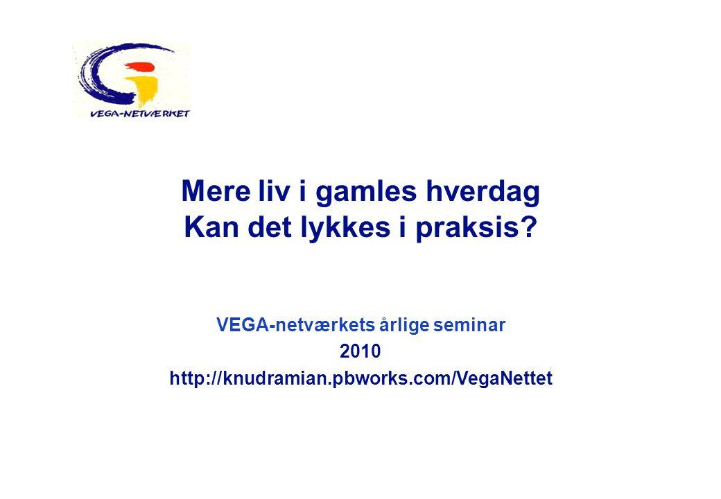 VEGA-netværkets årlige seminar