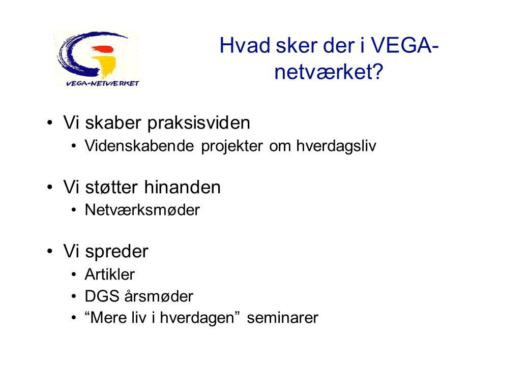Hvad sker der i VEGA-netværket