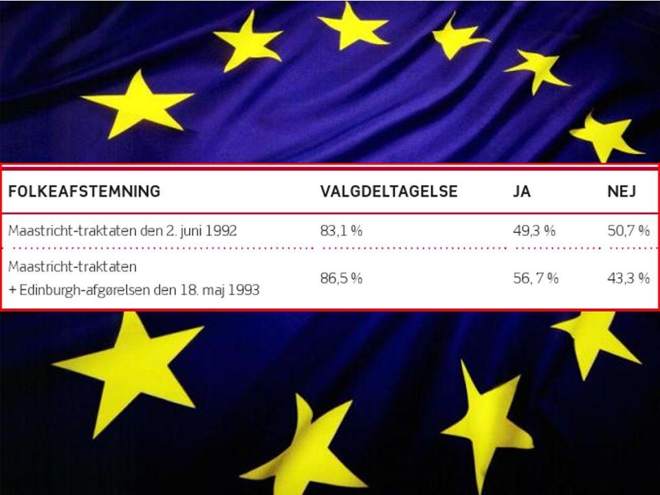 Den 18maj 1993 blev der afhold folkeafstemning I Danmark igen, denne gang stemte den danske befolkning om de ville være med i den Europæiske Union med de fire forbehold. Denne gang var der et flertal – dog ikke overvældende - og dermed med traktaten vedtaget.