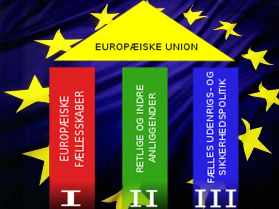 Da EU blev dannet blev disse søjler lavet, for at illustrere hvordan unionen var opbygget. Den første søjle omhandler økonomi og landendes fælles økonomiske interesser, anden søjle omhandler fælles udenrigs-og sikkerheds politik og den tredje søjle omhandler fælles love inden for EU.
