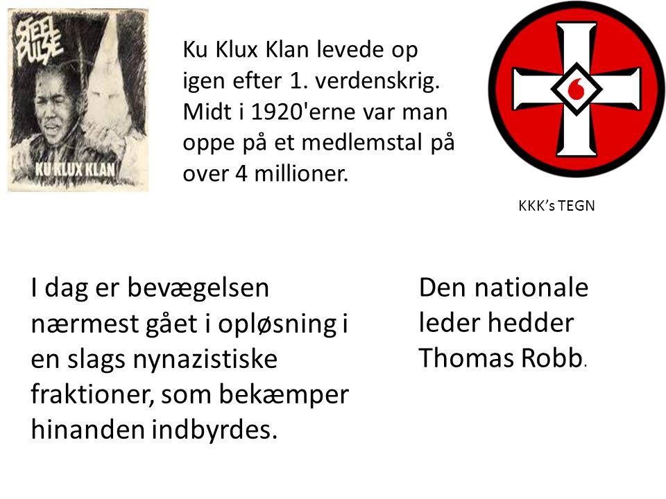 Den nationale leder hedder Thomas Robb.
