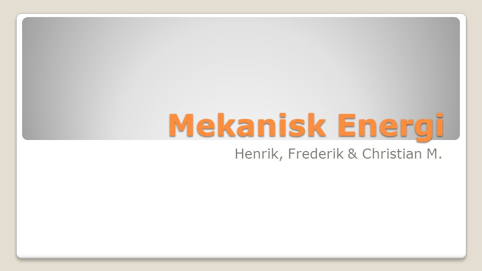 Henrik, Frederik & Christian M.