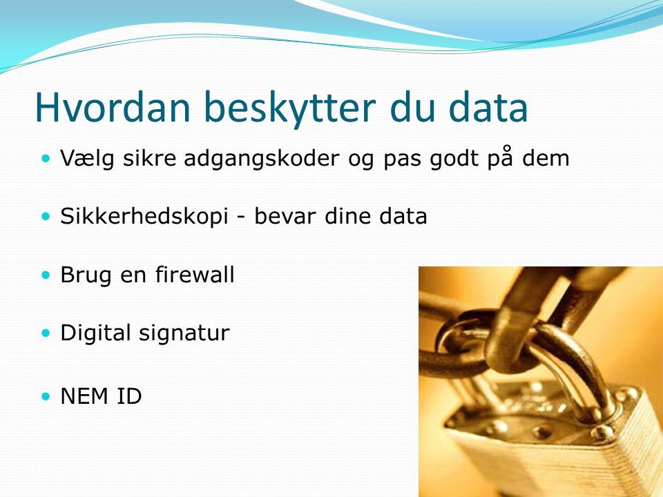 Hvordan beskytter du data