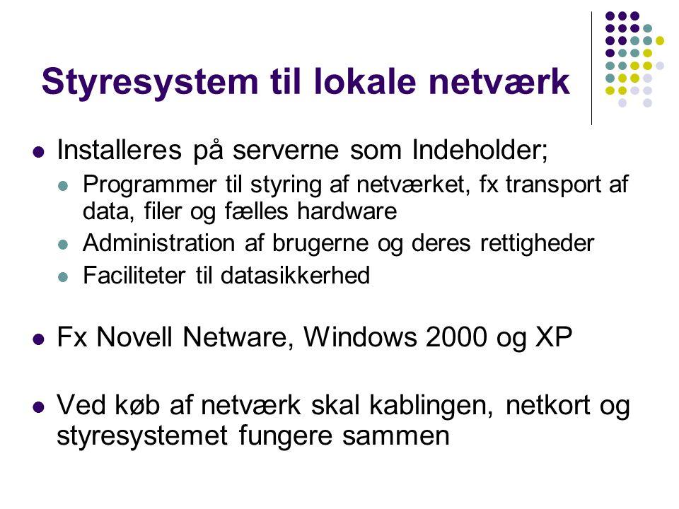 Styresystem til lokale netværk
